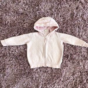Burt's Bee Baby zipper hoodie size 24 M